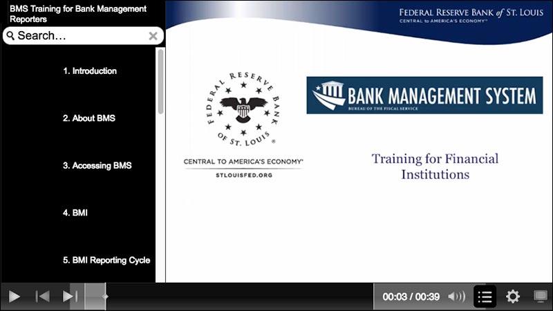Bank Management System: Training